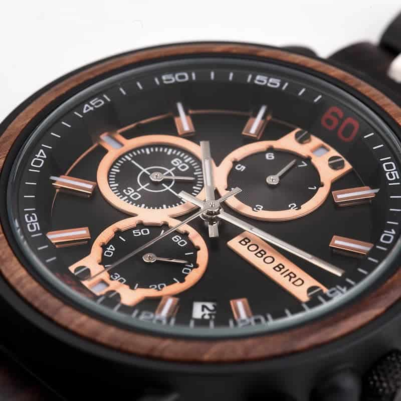 bobo bird wooden watches for men Arthur - Red sandalwood S18-1-2