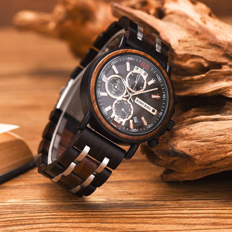 bobo bird wooden watches for men Arthur - Red sandalwood S18-1-3