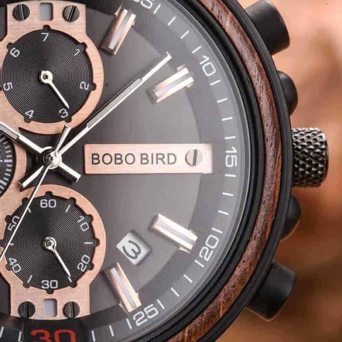 BOBO BIRD Holzuhr Cork-Love für Damen und Herren