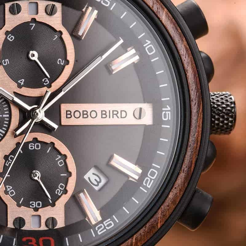 bobo bird wooden watches for men Arthur - Red sandalwood S18-1-4