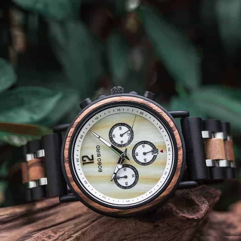 bobo bird wooden watches for men Lancelot - Teak S18-2