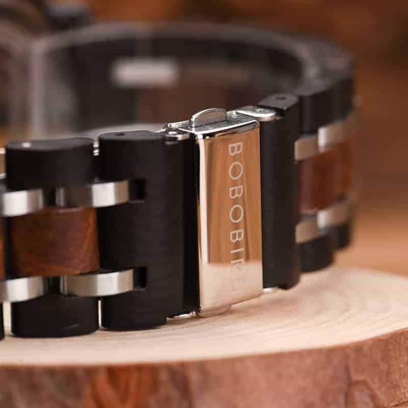 bobo bird wooden watches for men Gareth - Zebrawood S18-3-4