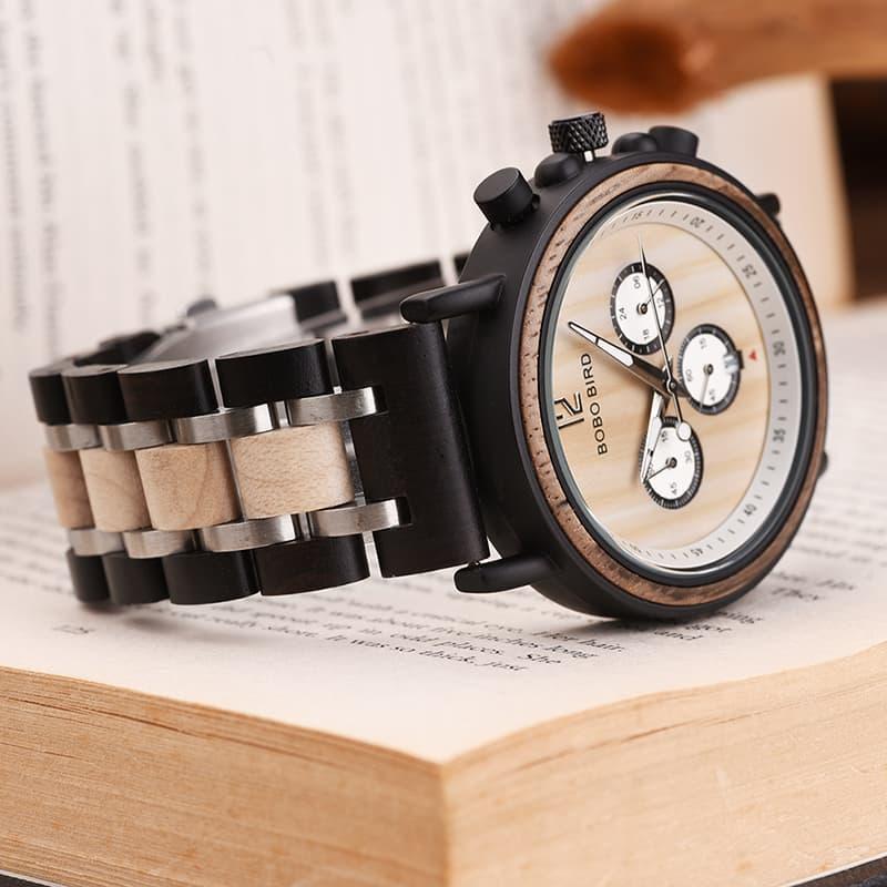 bobo bird wooden watches for men Lancelot - Teak S18-2-1