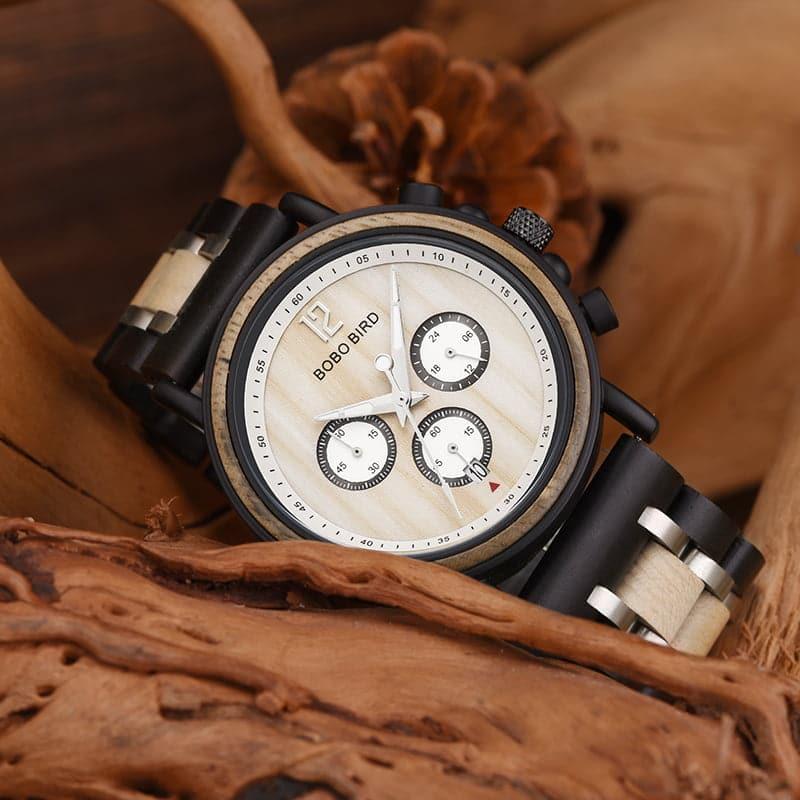 bobo bird wooden watches for men Lancelot - Teak S18-2-2