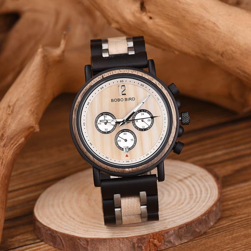 bobo bird wooden watches for men Lancelot - Teak S18-2-4