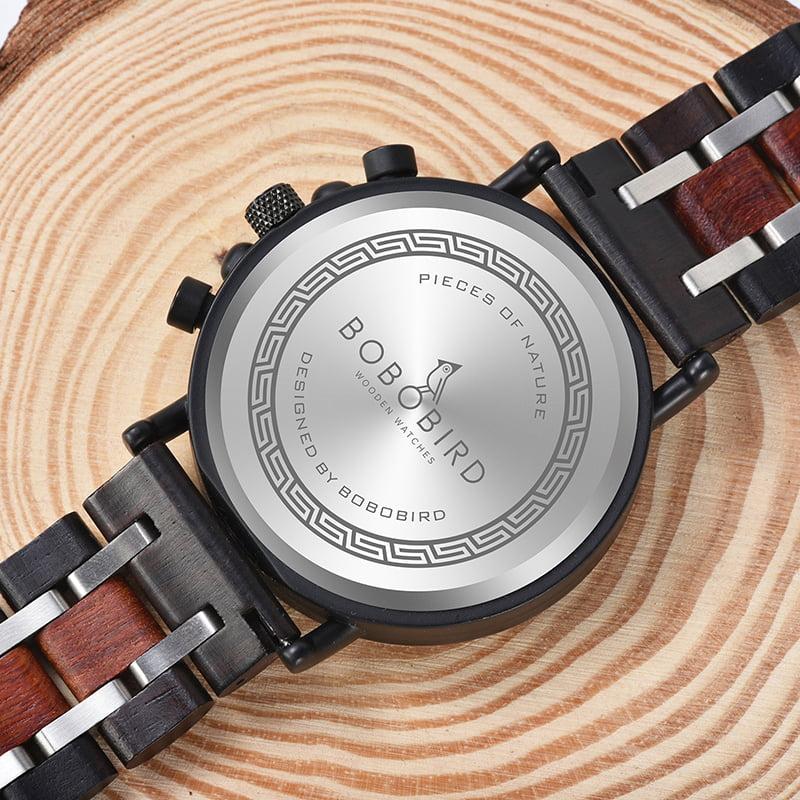 bobo bird wooden watches for men Lancelot - Teak S18-2-5