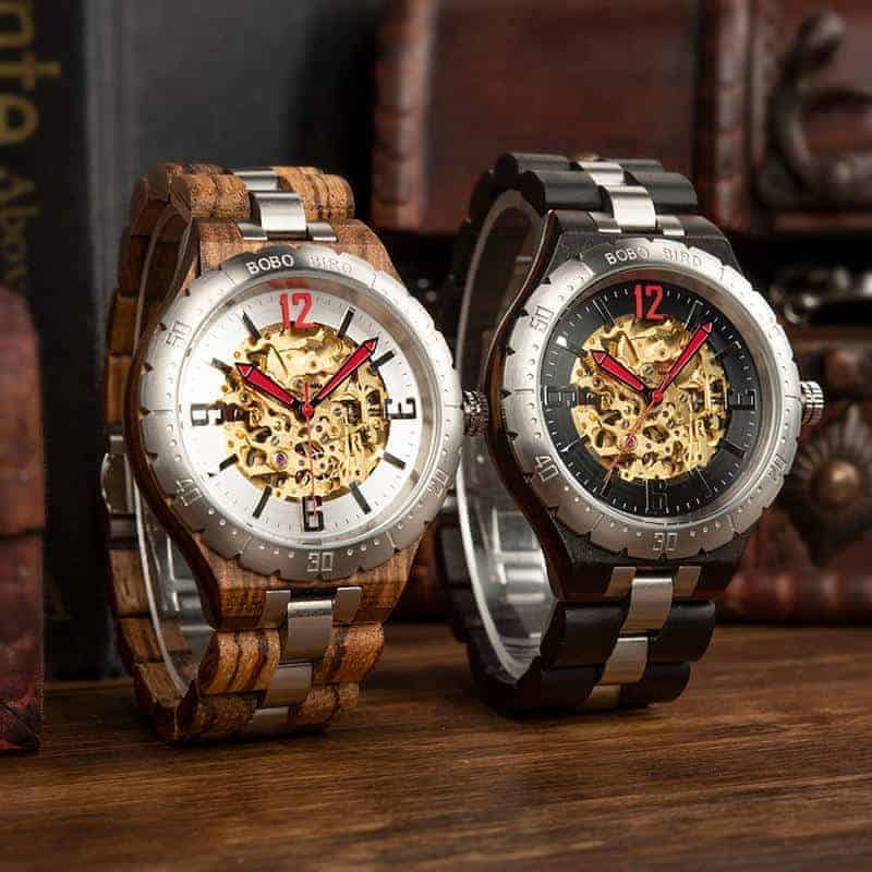 bobo bird Automatic Mechanical Movement Wooden Watches
