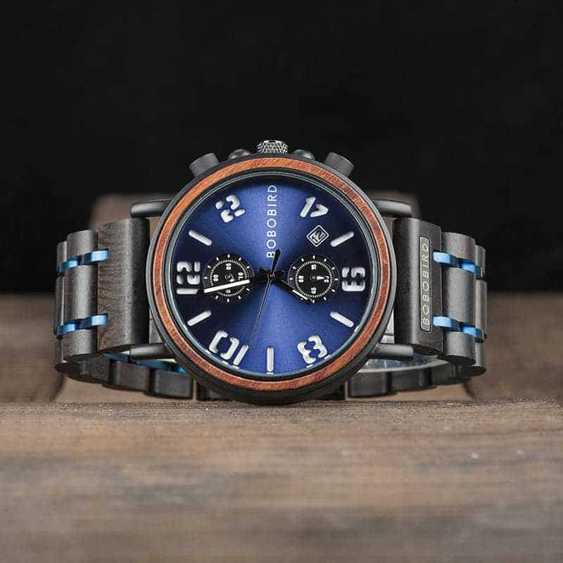 Men's Vintage Handmade Wooden Watches by bobo bird Galaxy Collection S26-2
