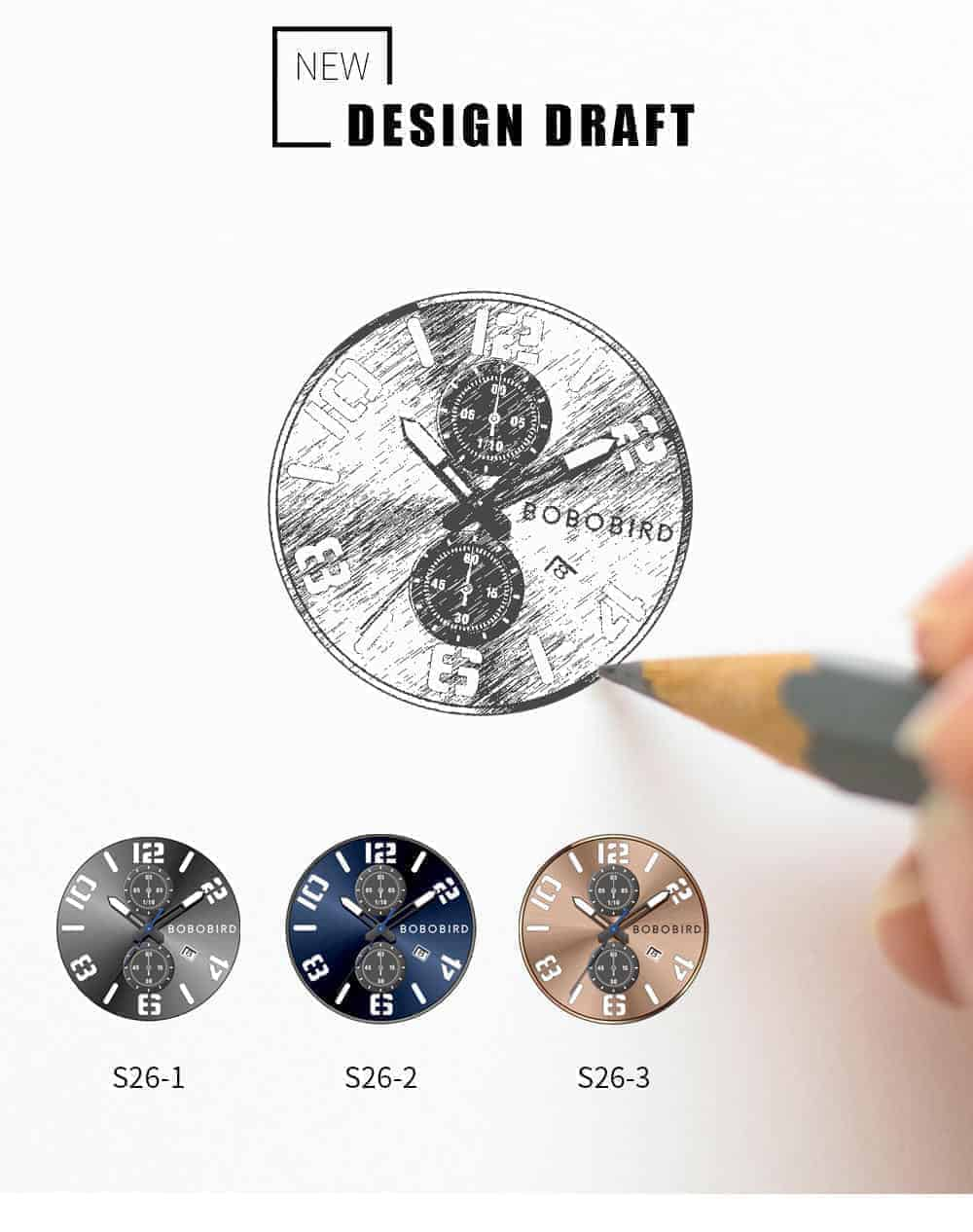 BOBO BIRD Wooden Watches S26 Series Product Details 3