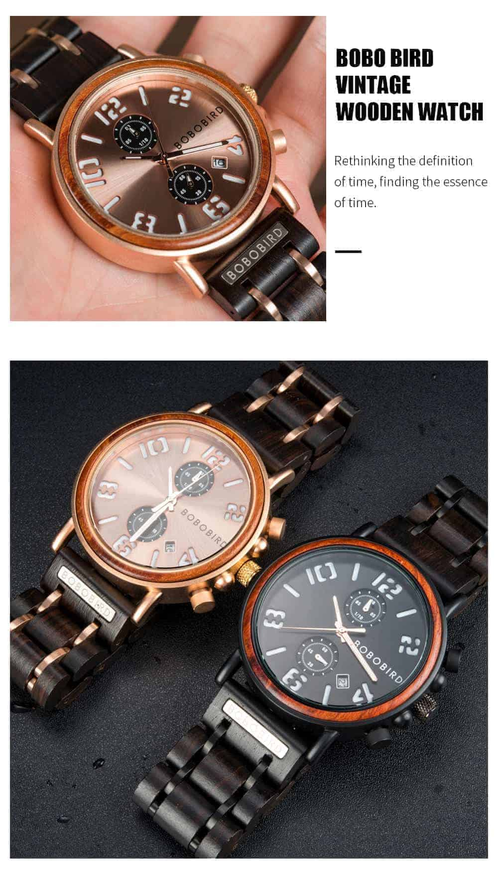 BOBO BIRD Wooden Watches S26 Series Product Details 5