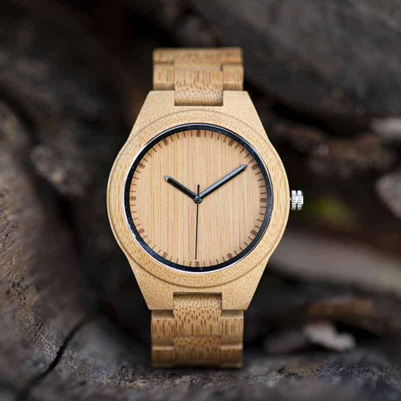 Bamboo Watch Men Quartz Watches Full Handmade Bamboo Strap Designer as Best Gift For Men G27