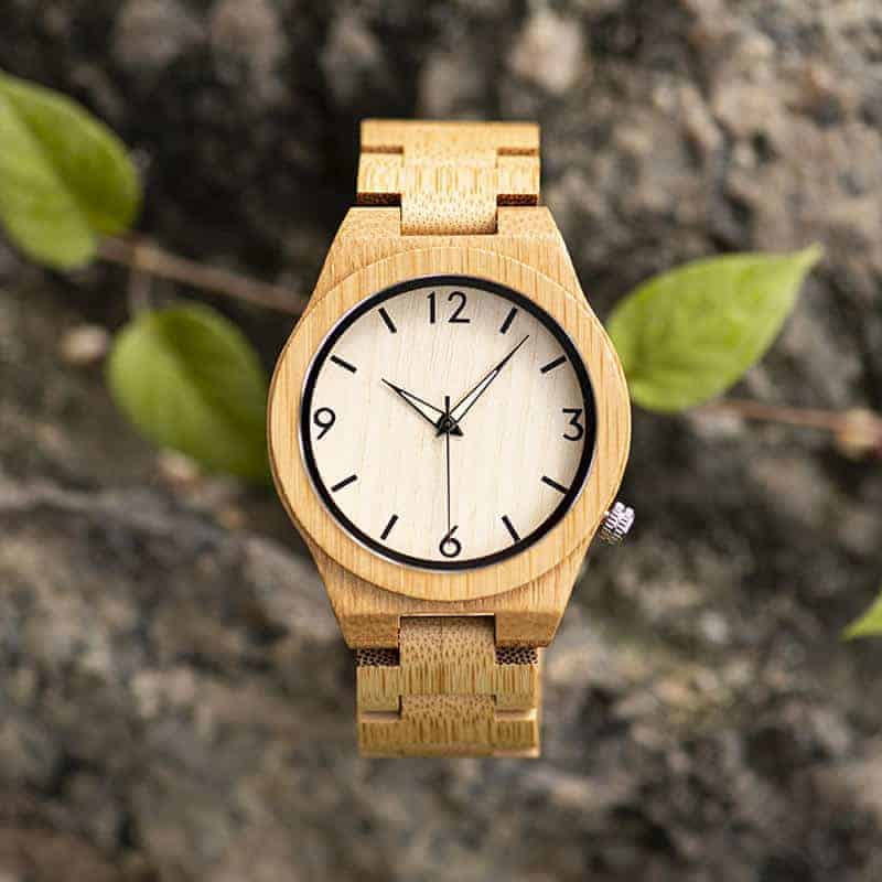 Bamboo Wooden Watches Handmade Natural Bamboo Wooden Strap Japanese Movement Unique and Lightweight D27-1-3