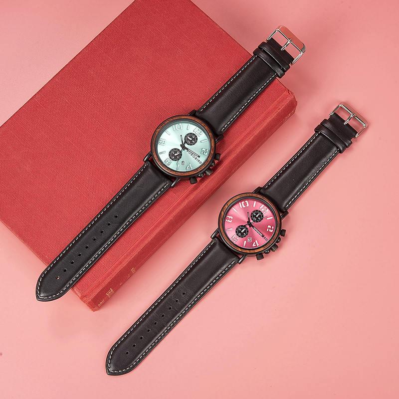 Mens Vintage Wooden Watches Handmade S28 3