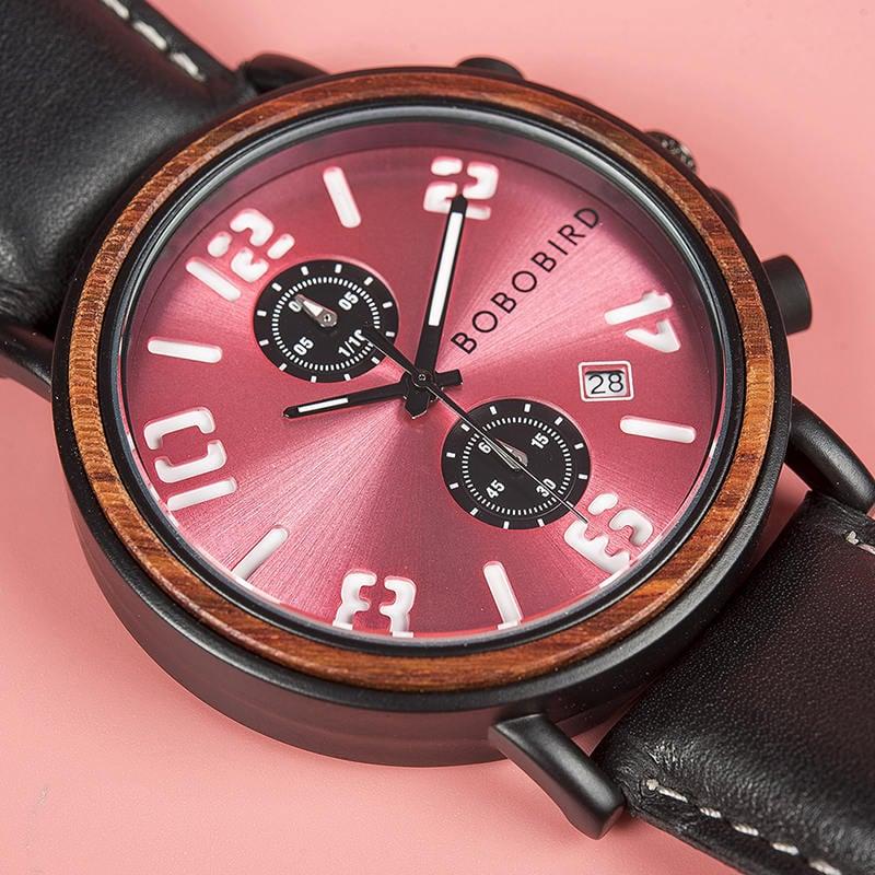Mens Vintage Wooden Watches Handmade S28 4