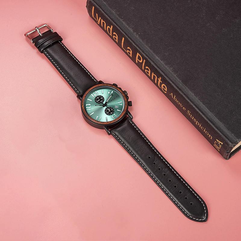 Mens Vintage Wooden Watches Handmade S28 6
