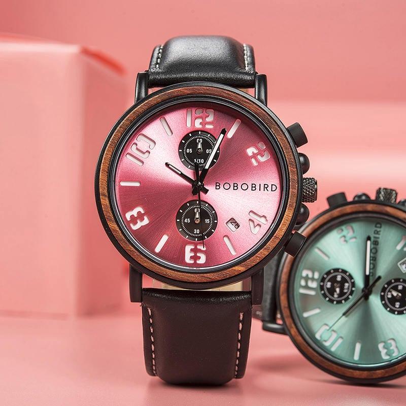 Mens Vintage Wooden Watches Handmade S28 9