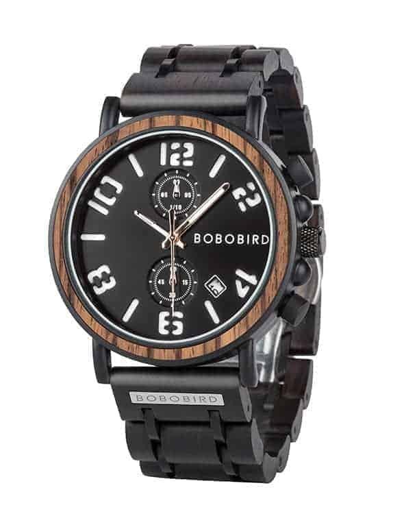 BOBO BIRD Men's Vintage Wooden Watches Handmade S26-4