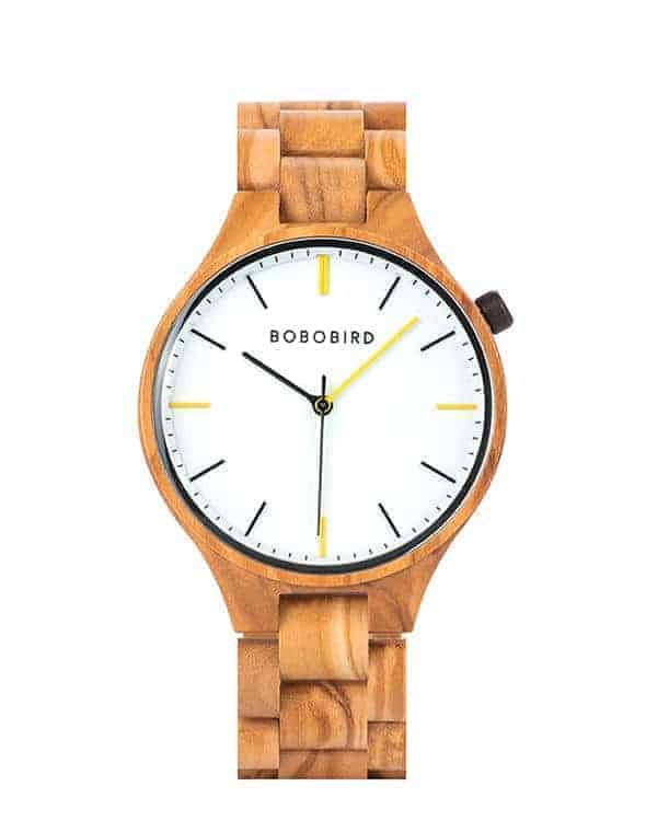 GENTLEMAN Collection Handmade Zebrawood Wooden Watch S27-3