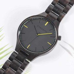 GENTLEMAN Collection Handmade Ebony Wooden Watch S27-1