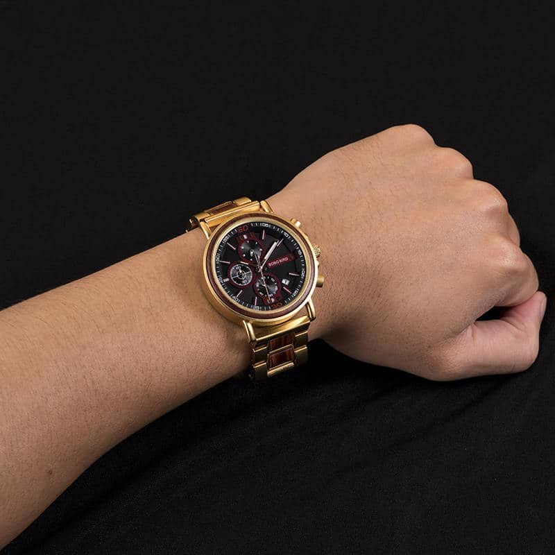 Commander Collection Handmade Rosewood Wooden Watches S18-4-2