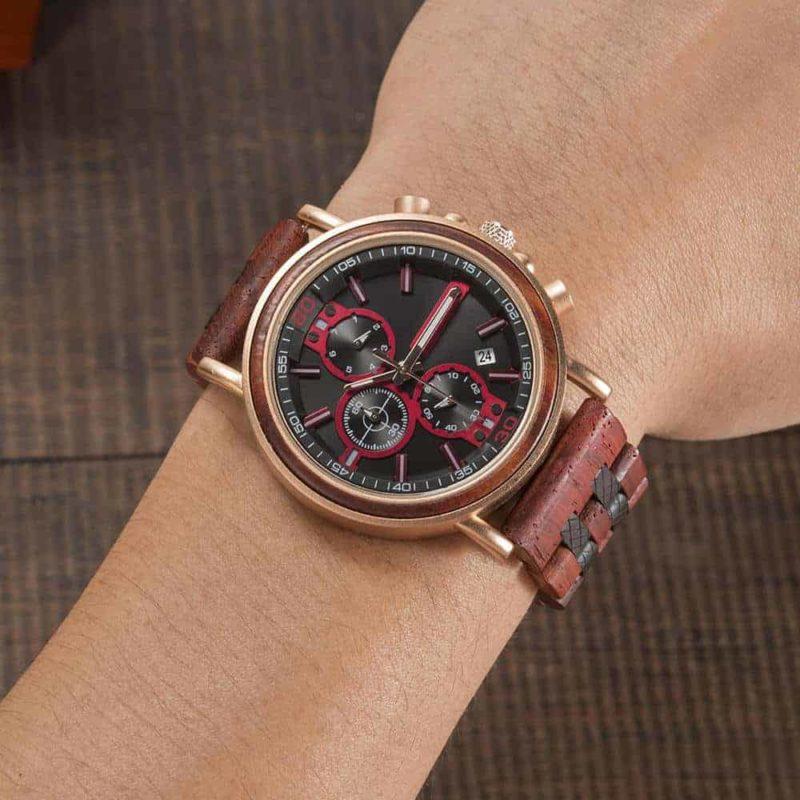 Commander Collection Handmade Rosewood Wooden Watches S18 5 5 BOBO BIRD