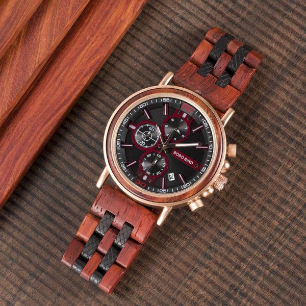 Men's Handmade Rosewood Wooden Watches