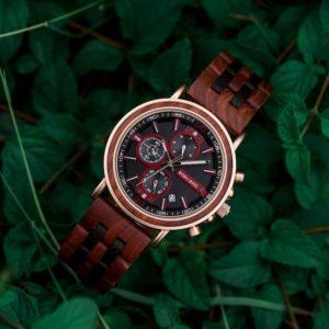 bobo bird wooden watches for men Gawain - Amaranth S18-5