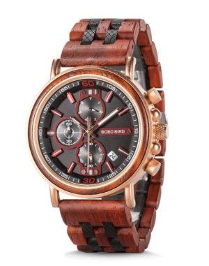 Handmade Rosewood Wooden Watches for Men S18-5