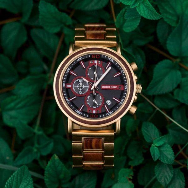 wooden watches for men Schlosspark S18-4