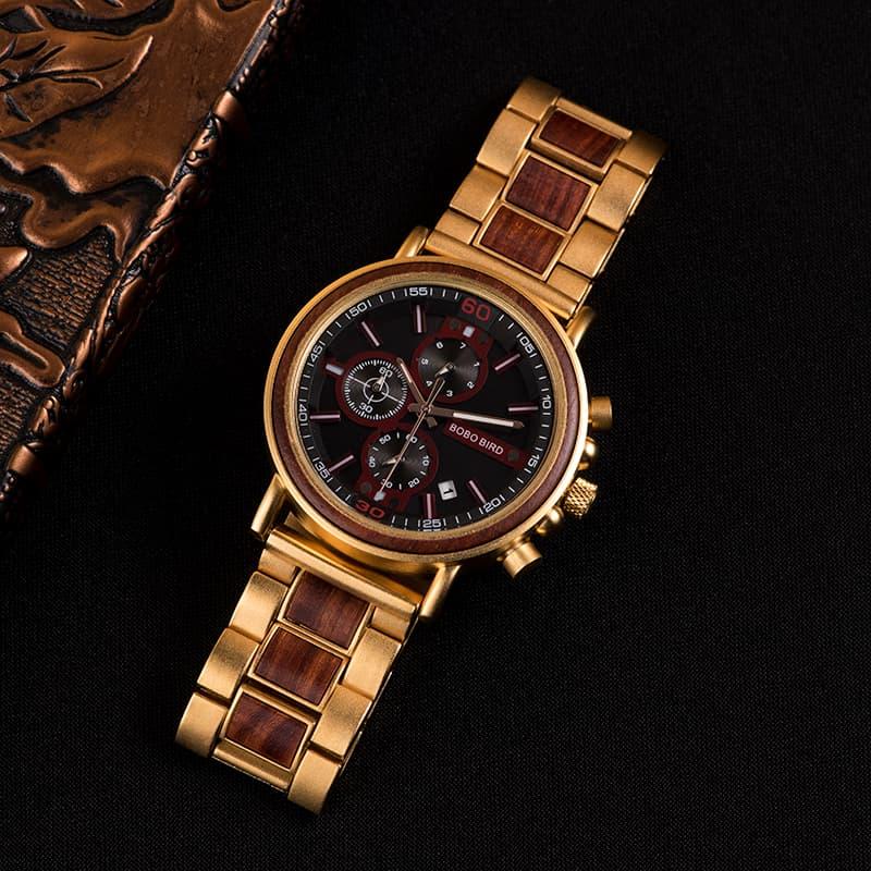 bobo bird wooden watches for men Schlosspark S18-4-1