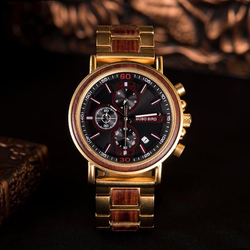 bobo bird wooden watches for men Schlosspark S18-4-4
