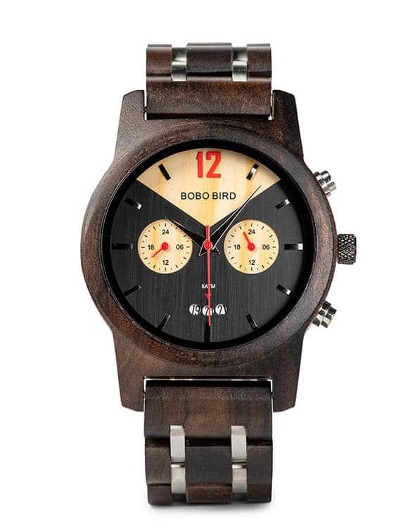 Handmade Ebony Wooden Watches S15-1