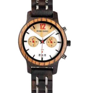 Handmade Ebony Wooden Watches S15-3