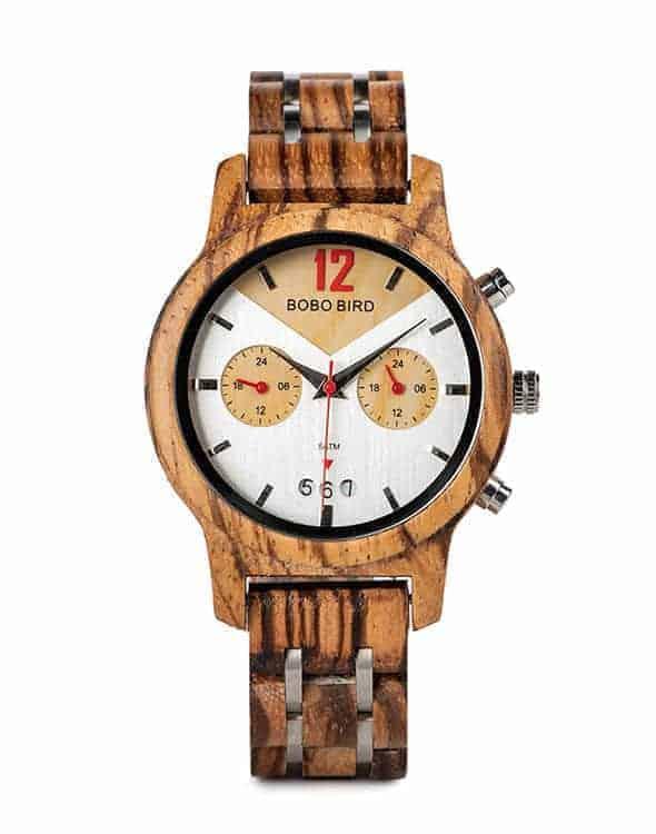 Handmade Zebra Wooden Watches S15-4