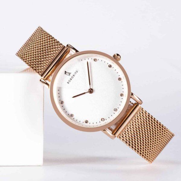 Women's Stainless Steel Simple Quartz Watch T01-1