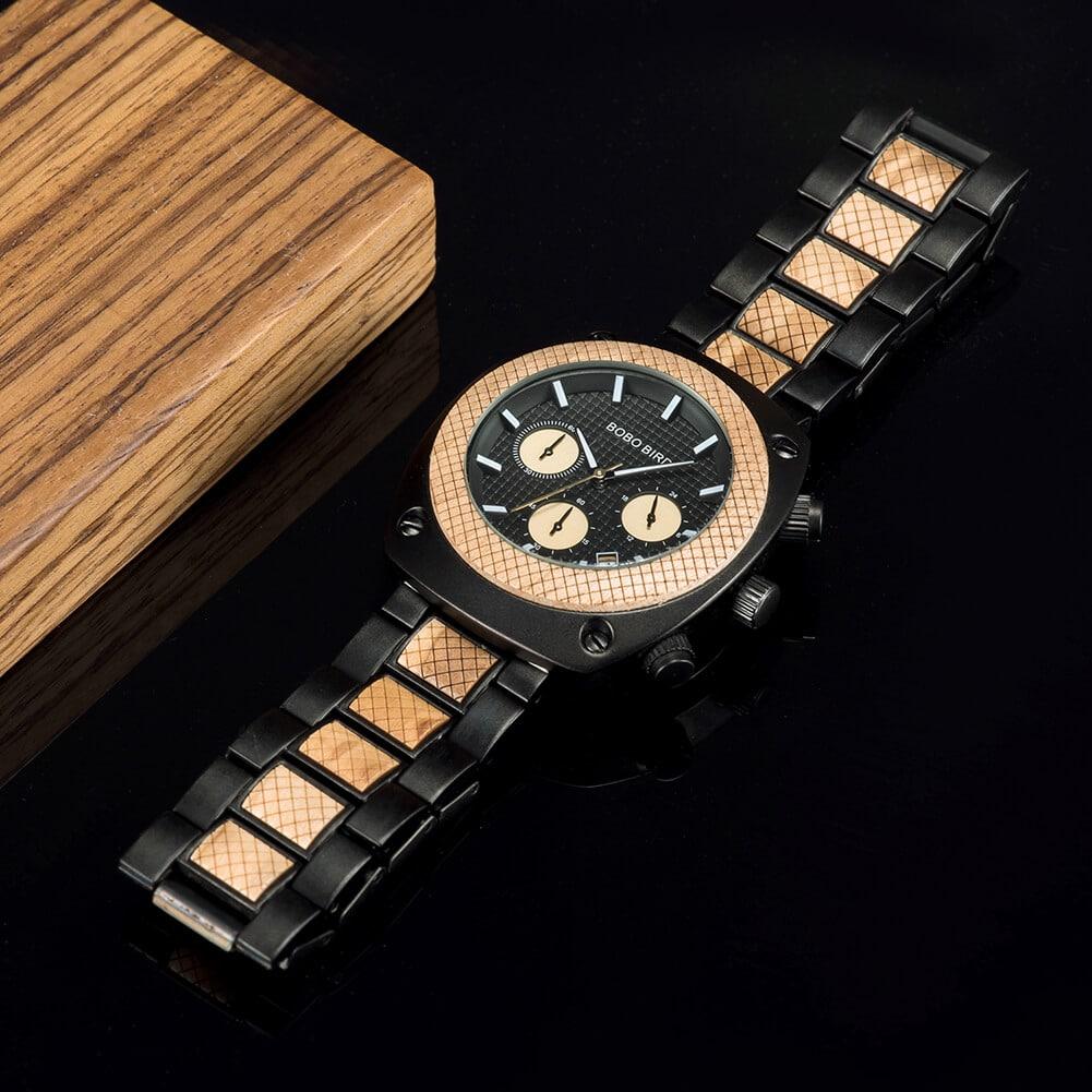 Commander Collection Handmade Wooden Watches T17 1 6 BOBO BIRD