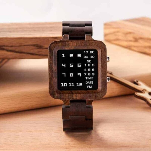 Digit Displayed wooden Watches by BOBO BIRD T04-1-9