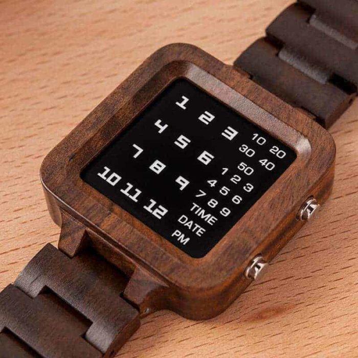 Digit Displayed wooden Watches by BOBO BIRD T04-10
