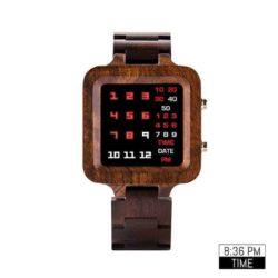 Digit Displayed wooden Watches T04