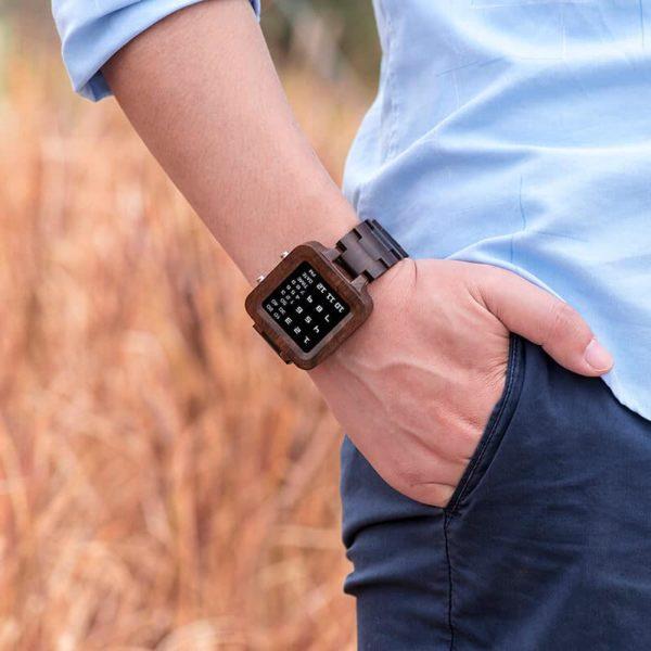 Digit Displayed wooden Watches by BOBO BIRD T04-4