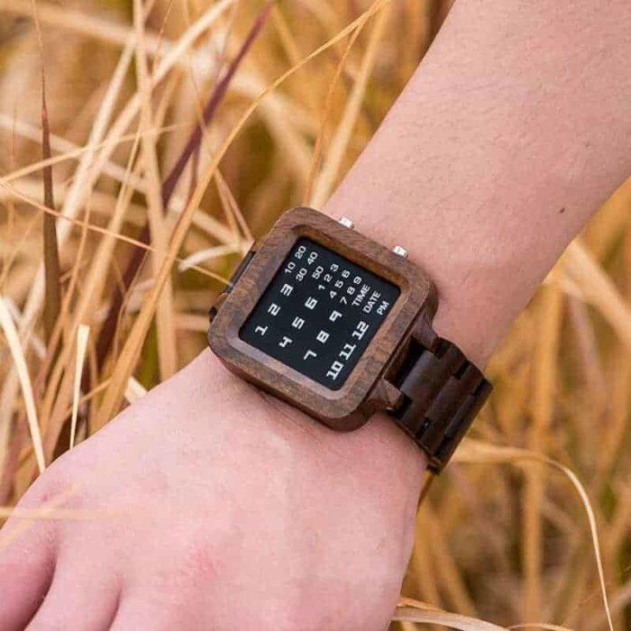 Digit Displayed wooden Watches by BOBO BIRD T04-5