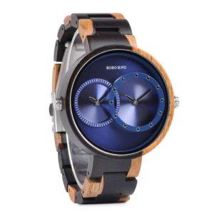 2 Time Zone Design Wooden Quartz Watches Women R10-3