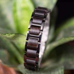Men's Stainless Steel and Wooden Bracelets WB-1