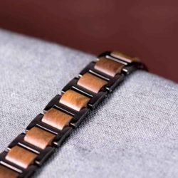 Men's Stainless Steel and Wooden Bracelet WB-2