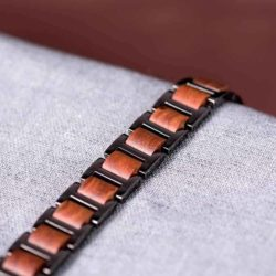 Men's Stainless Steel and Wooden Bracelets WB-3