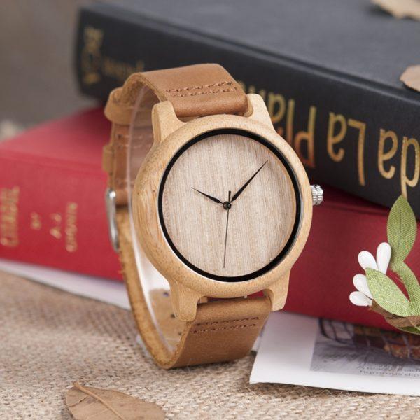 Bamboo Wooden Watches – Lightweight bamboo and wood clock - BOBO BIRD  A19