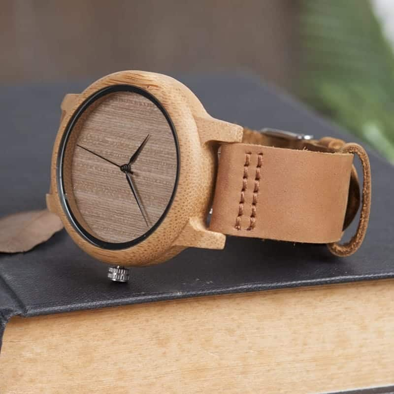 wooden bamboo wrist watch for men and women fashion style 3