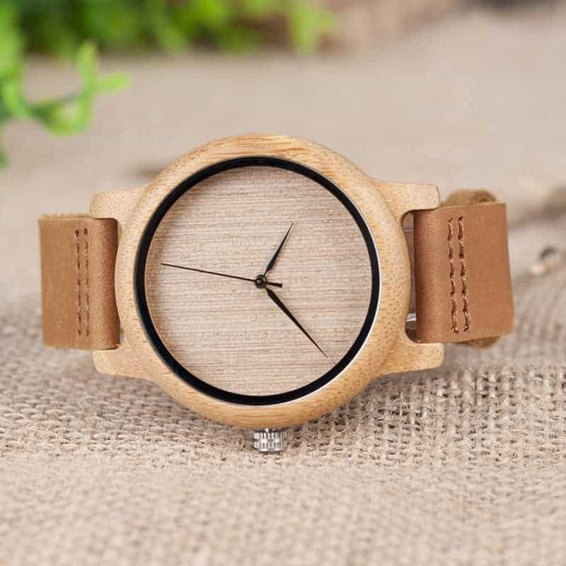 wooden bamboo wrist watch for men and women fashion style 5