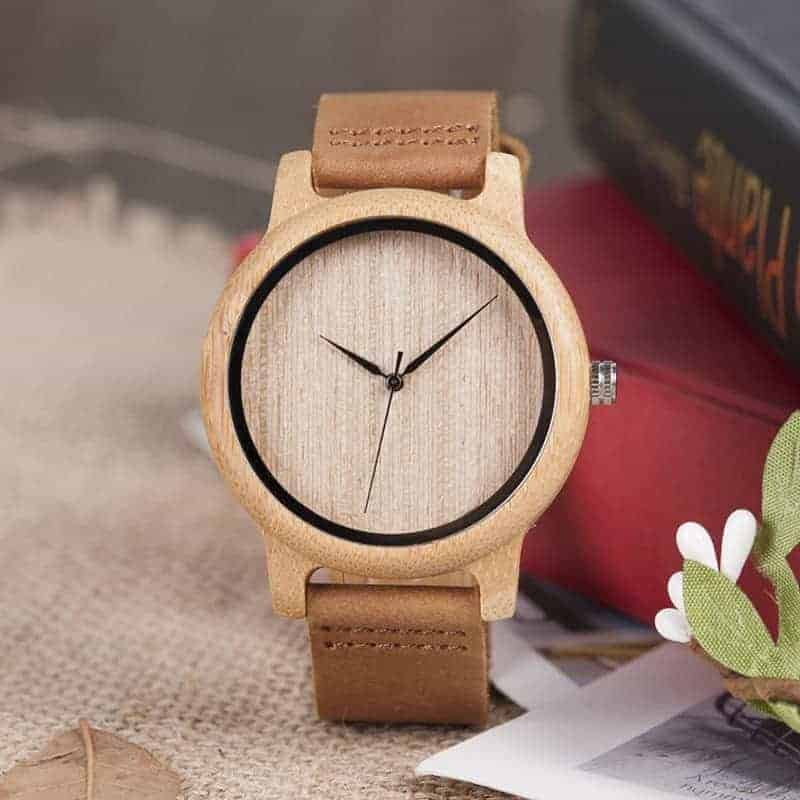 wooden bamboo wrist watch for men and women fashion style 8