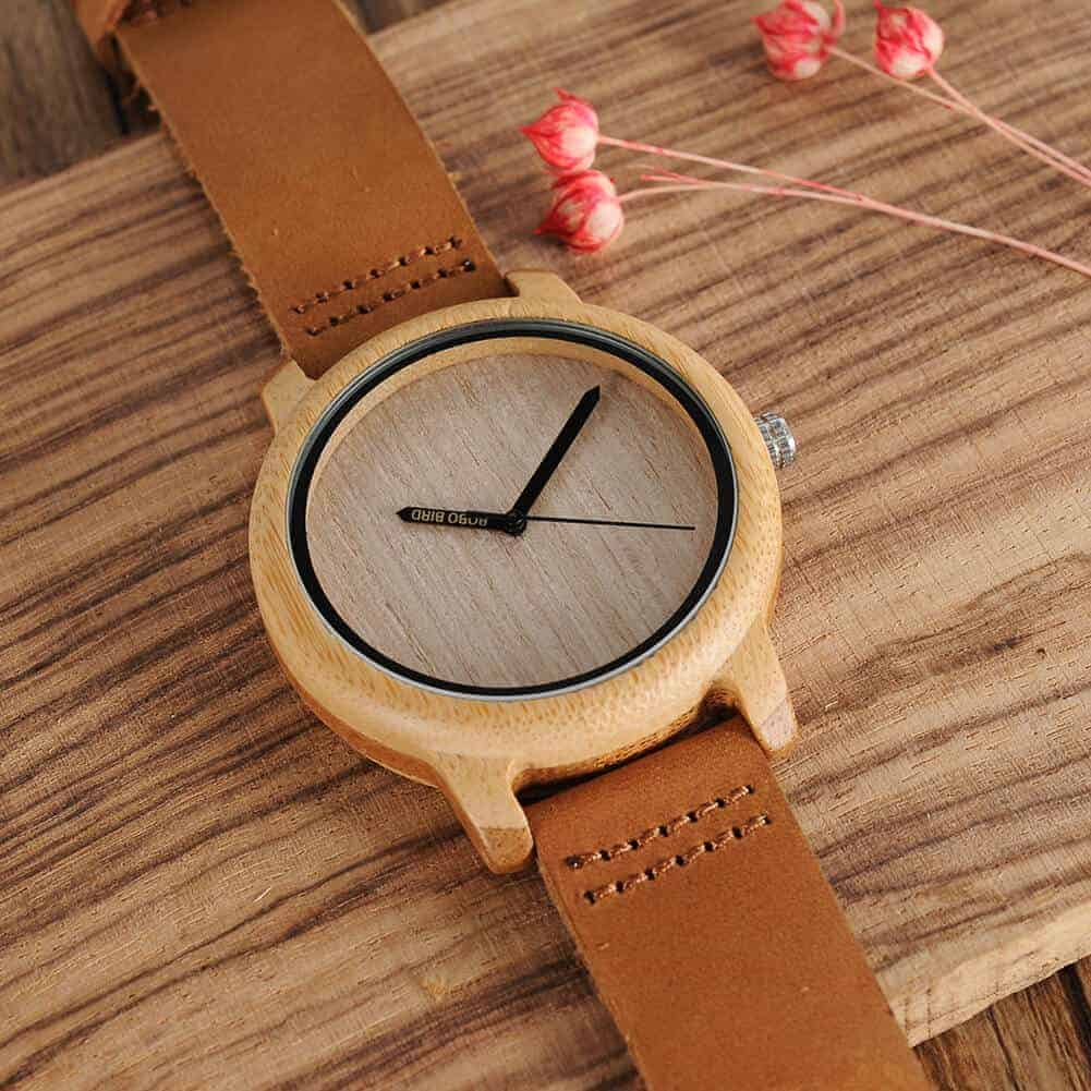 wooden watches for men and women bobo bird gifts a22 3